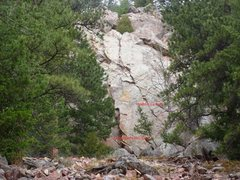 Rock Climbing Photo: Doris Gets Her Oats on the left and Heddi La Rue o...