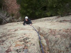 Rock Climbing Photo: One of the cool/crux moves involves a super high s...