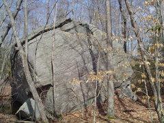 Boulder on Conservation land(not the Ironworks boulder)