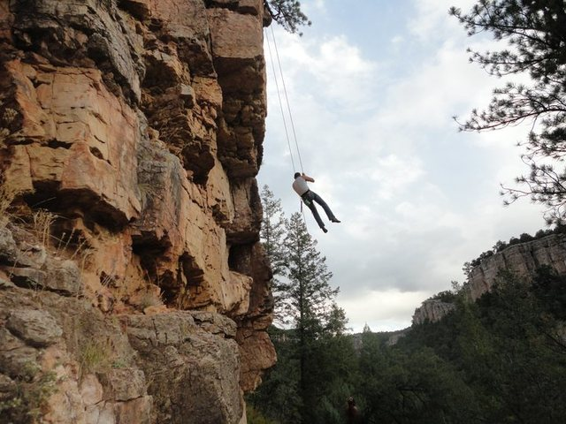 Rock Climbing Photo: me in mid air