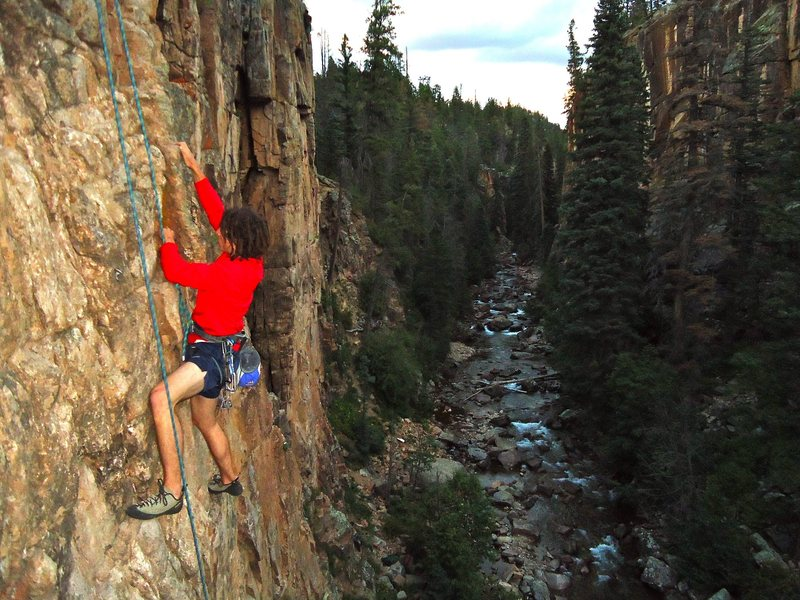 Rock Climbing Photo: Evening TR Burn on a great route in a beautiful lo...