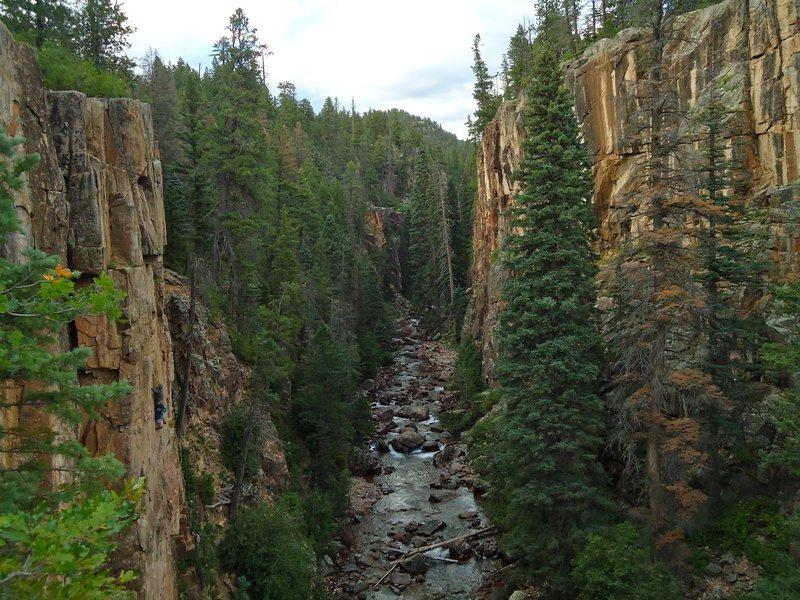 Beautiful, high altitude, Summer cragging.