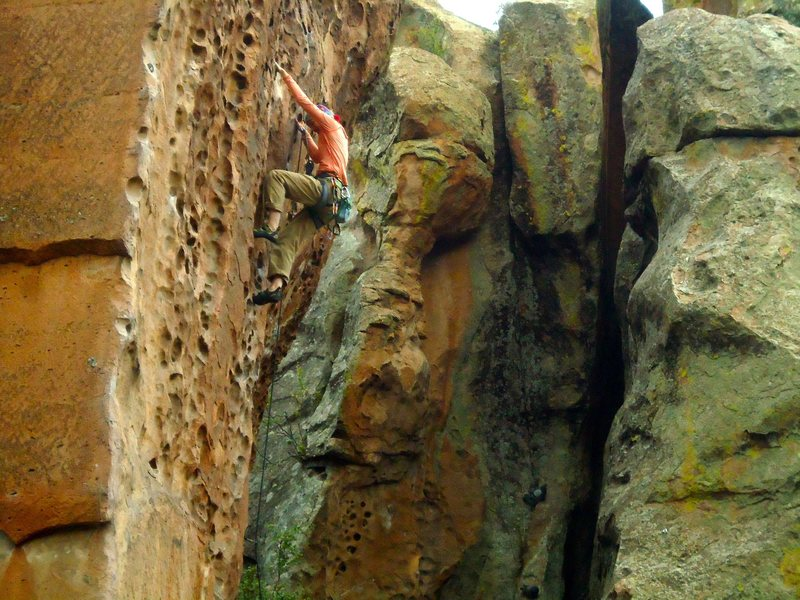 Big holds on great rock.