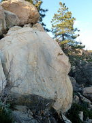 Rock Climbing Photo: Start on the left side. Head up and right to reach...