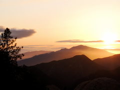 Rock Climbing Photo: Sunset from the base of Walking on Sunshine. Potte...