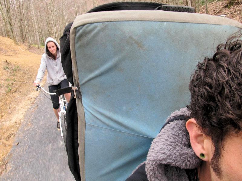 Rock Climbing Photo: Boulder biking on the VCT...