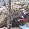 Aaron James Parlier 3 move in on Creek Junction Crimpin' (v2/3).