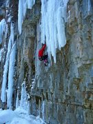 Rock Climbing Photo: Richie gets into the thick of it (the thick ice an...
