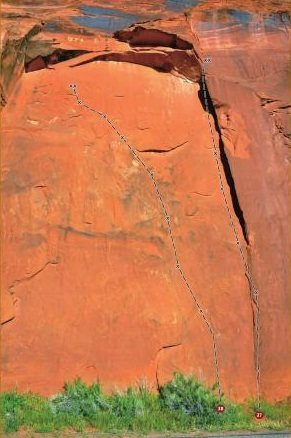 """Nr 37 in """"Best Climbs Moab"""" climbing guide"""