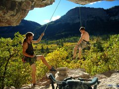 Rock Climbing Photo: After a strenuous bout with the lower portion of t...