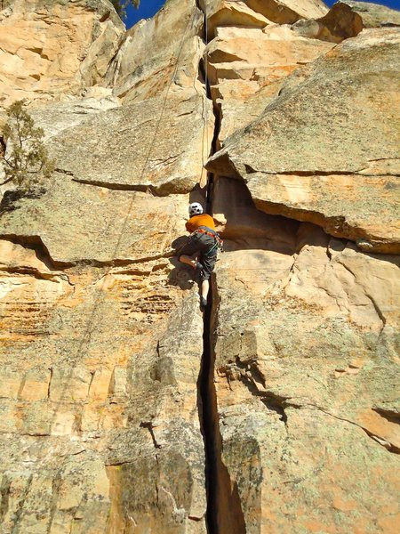 Rock Climbing Photo: Enjoyable but wide. EATS #3s for breakfast.