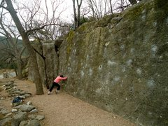 """Rock Climbing Photo: My mother stands at the base of """"Screamin' Fi..."""