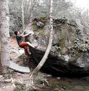 """Rock Climbing Photo: Aaron James Parlier on """"A River Runs Through ..."""