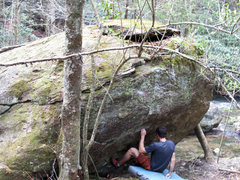 "Rock Climbing Photo: Aaron James Parlier on ""Creek Junction Crimpi..."