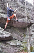 Rock Climbing Photo: Aaron James Parlier on the John Henry Wall, climbi...