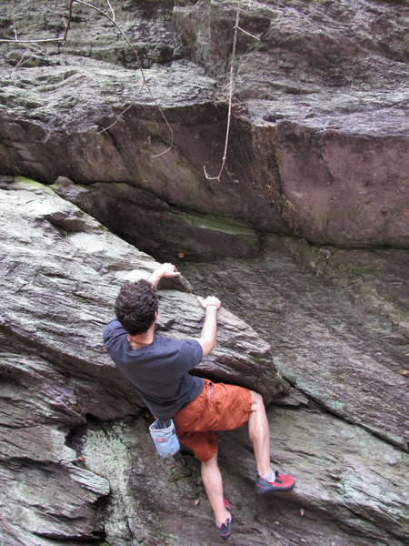 Aaron James Parlier on the John Henry Wall, on the start to &quot;Man With A Hammer In His Hand&quot; (V0/1)<br> <br>