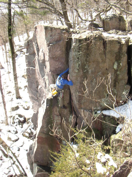 Rock Climbing Photo: Going deep.