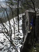 Rock Climbing Photo: Nearing the top.  Rhoads got a little turned aroun...