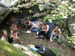 Rock Climbing Photo: Gaggle of UMD alumni enjoying Sawmill bouldering. ...