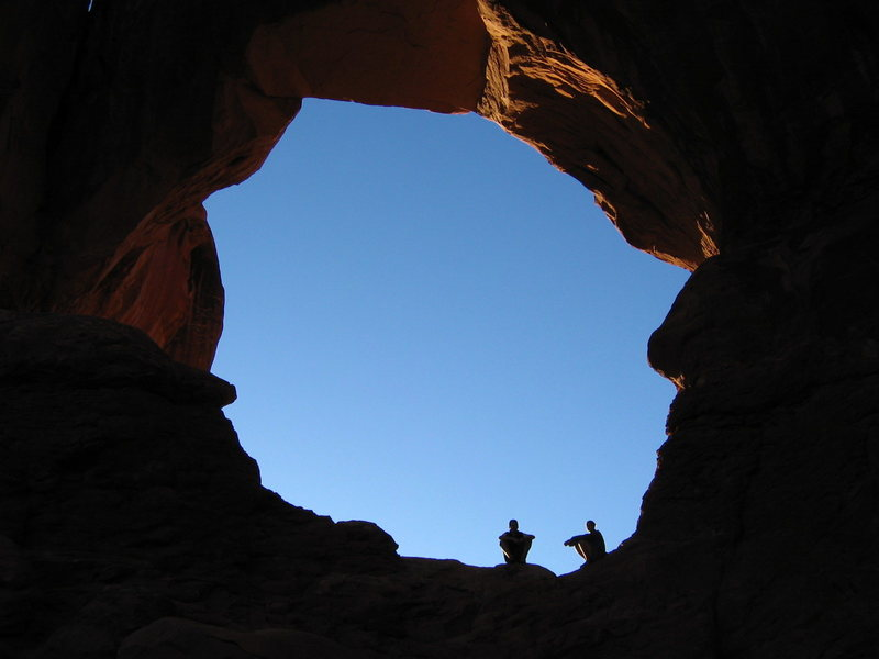 Mark and Laura at Arches National Park.