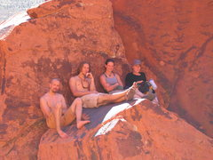 Rock Climbing Photo: Springbreak 2004 group hanging out by Panty Wall a...