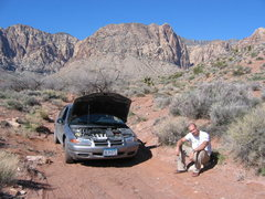 Rock Climbing Photo: Nick Judson and I killing Chad Miller's car trying...