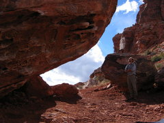 Rock Climbing Photo: Matt Johnson looking at Monkey Bar Boulder Photo b...