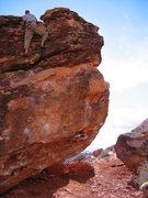 "Rock Climbing Photo: Matt Johnson topping out on ""Monkey Pinch&quo..."