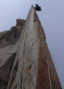 Rock Climbing Photo: Bean Bowers (photo poached from fundraiser website...