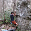 "Aaron James Parler on the ""Trail Days"" Arete (V2/3)"