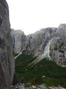 Rock Climbing Photo: I'm somewhere on that wall to the left...