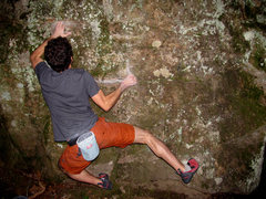 Rock Climbing Photo: Aaron James Parlier sticking the first move off of...