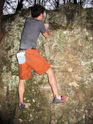 """Rock Climbing Photo: Aaron James Parlier on the FA of """"Jeepers Cre..."""