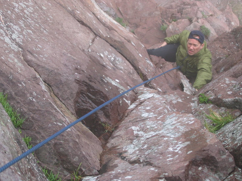"""Rick, infamous aid climber of the North Shore and illustrator of """"Superior Climbs"""" guidebook."""