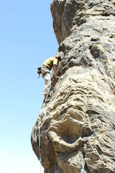 Rock Climbing Photo: Fun route. Crux right of the start, then some low ...