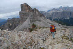 Rock Climbing Photo: The talest peak in the photo is Averau, I proposed...