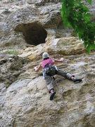 "Rock Climbing Photo: Matt Johnson on ""Cyclops"" with a good sh..."