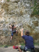 Rock Climbing Photo: Photo from July 2004 before the rock fall. Photo b...