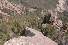 Rock Climbing Photo: Looking down from the summit of Challenger, Chris ...