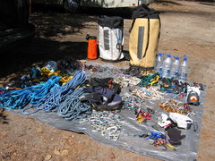 Rock Climbing Photo: Gear for an attempt by Nick Fleming & myself on &q...