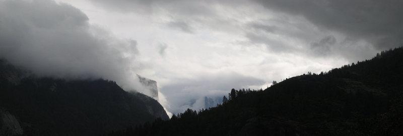 Rock Climbing Photo: Panoramic of Yosemite Valley, CA.