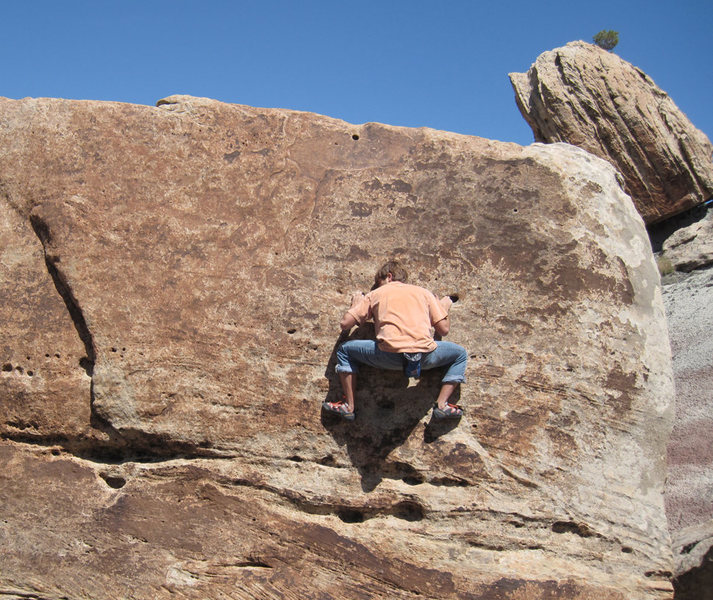 Climbing at the Tabeguache boulder area.