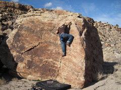 Rock Climbing Photo: Climbing Pocahontas (V0-).