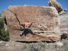 Rock Climbing Photo: Traversing Pick Pocket (V2).