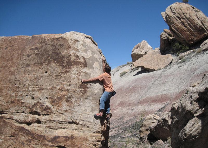 Climbing the Goblin (V4).