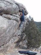 Rock Climbing Photo: More big reaches.