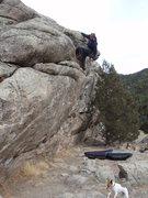 Rock Climbing Photo: Hmmmm? Don't wanna fall now.
