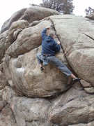 Rock Climbing Photo: @ the crux (also other hold options besides the cr...
