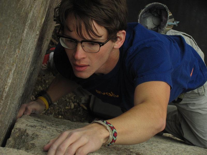 Rock Climbing Photo: Sam Perkins, focused.