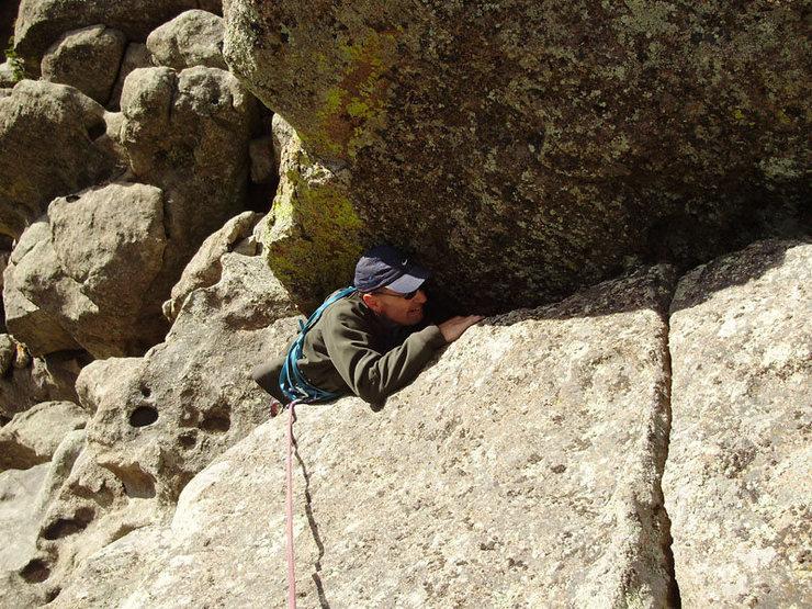 Rock Climbing Photo: A little stiffer than the stuff below, maybe 5.7, ...